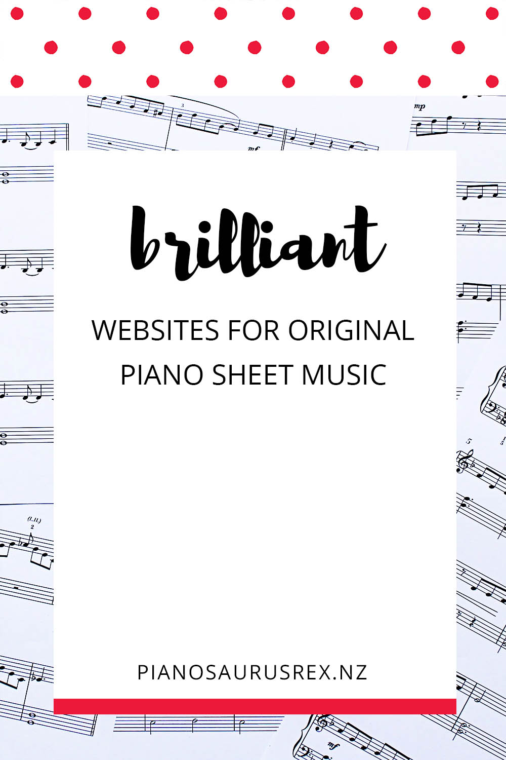 Original Piano Sheet Music